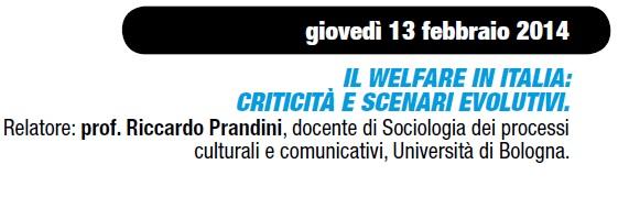 1)Il Welfare in Italia: criticità e scenari evolutivi